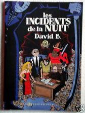 DAVID B.: LES INCIDENTS DE LA NUIT - Nuovo
