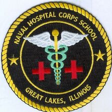 US NAVY PATCH - NAVAL HOSPITAL CORPS SCHOOL, GREAT LAKES, ILLINOIS