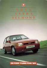 Vauxhall Nova Astra Belmont Specification Improvements 1988-9 UK Market Brochure