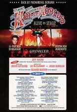 JEFF WAYNE - 2010 TOUR FLYER - WAR OF THE WORLDS LIVE RARE MUSICAL CONCERT PROMO