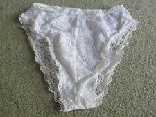 Nefer white lace Hi-cut leg panties - Size Medium