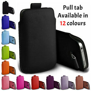 B Protective Pull tab phone case cover pouch sleeve PU Leather for Samsung S10+