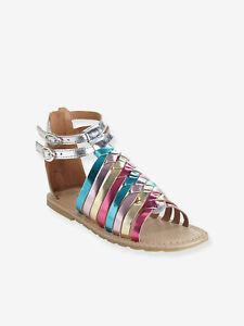 Vertbaudet Römer-Sandalen für Mädchen, Leder - mehrfarbig  Gr. 29