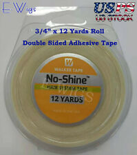 """WALKER No Shine Tape Hair System Tape 3/4"""" by 12 Yards Roll Double Side Adhesive"""