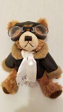 """Brass Button Bear Teddy aviator Ralph  Friendship jointed 10"""" 2004"""