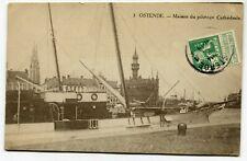 CPA - Carte Postale - Belgique - Ostende - Maison du Pilotage - Cathédrale