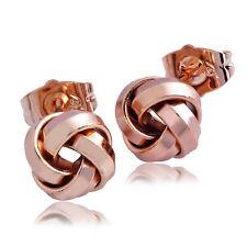 Cute New 9K Rose Gold Filled Retro Love Knot Stud Post Earrings