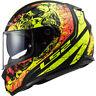 LS2 THRONE mattschwarz/Neon - Motorrad Helm Integralhelm Kart Sport Gr.:XS - XXL