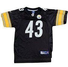 Troy Polamalu #43 Pittsburgh Steelers Nfl On Field Youth Large (14-16)