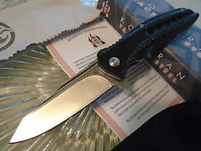 "Komoran Spring Assisted Open Tactical Pocket Knife D2 Steel Premium 016 7"" Open"