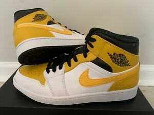 Air Jordan 1 Mid University Gold 554725-170 Men Size 11 In Hand