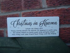 shabby vintage chic christmas in heaven what do they do plaque sign xmas heaven