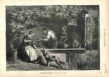 Coutellerie Coutelier Metier Artisan Auvergne Knife making FRANCE GRAVURE 1883