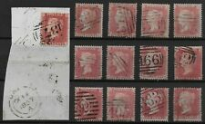 1d.'STARS'(13)-Between SG37&42. FU Including One On Piece. Min.Cat.£156.Ref:0-13