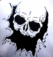 high detail airbrush stencil  skull  through hole FREE UK POSTAGE