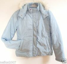 BNWT Girls Pineapple Pale Blue Silver Star Hooded Hood Coat Jacket Age 11-12