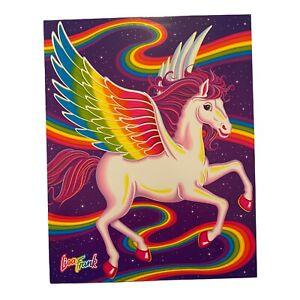 Lisa Frank Vintage Folder SKYE Pegasus NEW 2 Pocket Folder Portfolio Rainbow