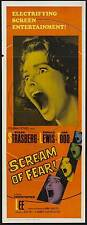 SCREAM OF FEAR Movie POSTER 14x36 Insert Susan Strasberg Ronald Lewis Ann Todd