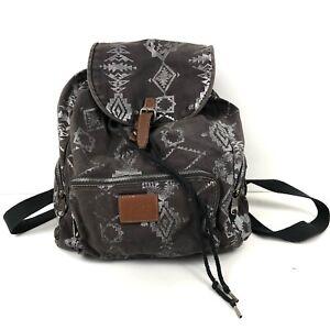 PINK Victoria's Secret Women's Backpack Taupe Canvas Southwestern Boho Travel