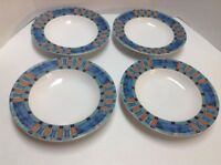 Cityscape Pfaltzgraff Atmosphere Rimmed Soup Cereal Bowls Lot of 4