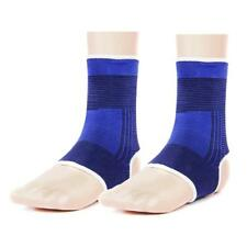 Pair Footful Ankle Support Braces Sports Socks Sprains Running Injury Guard Blue