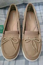 Grasshopper NWT Memory Deluxe Tan Women Deck Boat shoes size 10W
