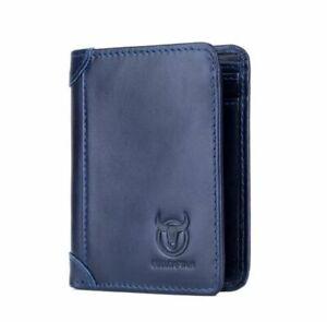 Retro Mens Genuine Leather Wallet RFID Bifold Card Holder Pocket Purse Cash