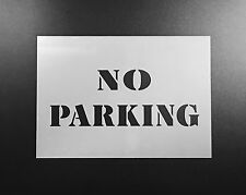No Parking Sign Stencil Airbrush Wall Art Craft Custom Office Decor DIY Reusable
