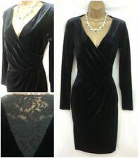 Draped Long Sleeve Wrap Dresses