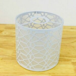 Metal Floral Lampshade Lamp-Cover Table-Ceiling-Pendant Lights Shade White Decor