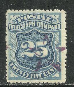 U.S. Revenue Telegraph stamp scott 15t3 - 25 cent 1885 Postal Telegraph issue xx