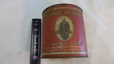 PRINCE ALBERT TOBACCO CAN CANISTER TIN crimp cut OLD VINTAGE ANTIQUE empty