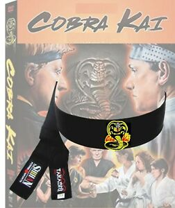 COBRA KAI HEADBAND Black Tenugui Samurai Hachimaki  karate kid miyagi-Do