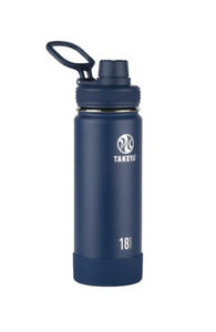 Takeya Originals 18 oz. Insulated Stainless Steel Water Bottle - Navy Blue New