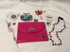 Lot of 11 Misc Disney Items~Pins keychain button straw tablet case and more