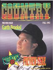 COUNTRY MUSIC PREVIEW MAGAZINE # 1 GARTH BROOKS COVER POSTER 1992 CLINT BLACK