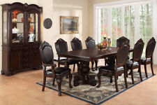 Dining Room Furniture Formal 9pc Dining Set Arm Chairs Dining Table Side Chairs