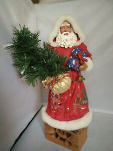 Vintage father christmas with Christmas tree, battery operated