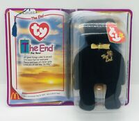 "Mint Teanie Beanie Babies McDonalds Happy Meal Toy ""The End"" Bear 2000 Free Ship"