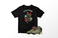 Culture Snake Graphic T-Shirt to Match Air Jordan 6 Retro Travis Scott All Sizes