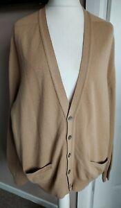 Men's Vintage Johnston's Cardigan 100% Lambswool Scotland Size L Pockets