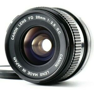Near MINT Canon FD 28mm f/2.8 S.C. Wide Angle Lens Fro mount From JAPAN