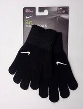 Nike Knit Youth Gloves Black/White youth Boys Girls S/M