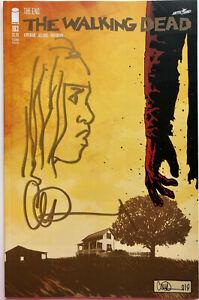 WALKING DEAD #193 w/MICHONNE REMARQUE & SIGNED BY CHARLIE ADLARD 2ND PRINT