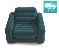 Inflatable Bed Blow Up Dorm Camping Pull Out Chair Twin Air Mattress Sofa New