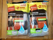 Hanes Comfortsoft tagless boxer briefs Lot of 14 pair Tagless NEW Two Packs Med