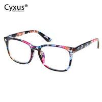 Cyxus Women's Blue Light Blocking Glasses for Anti Eyestrain Floral Print Frame