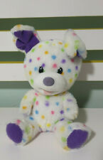 SMALL FRYS BUILD A BEAR DOG WHITE AND SPOTTY PURPLE EARS! 18CM