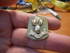 Royal Canadian Engineers Smoking Grenade Collar Device Badge #1241