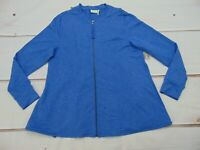LOGO Lounge by Lori Goldstein French Terry Zip Front Jacket Women's Large L